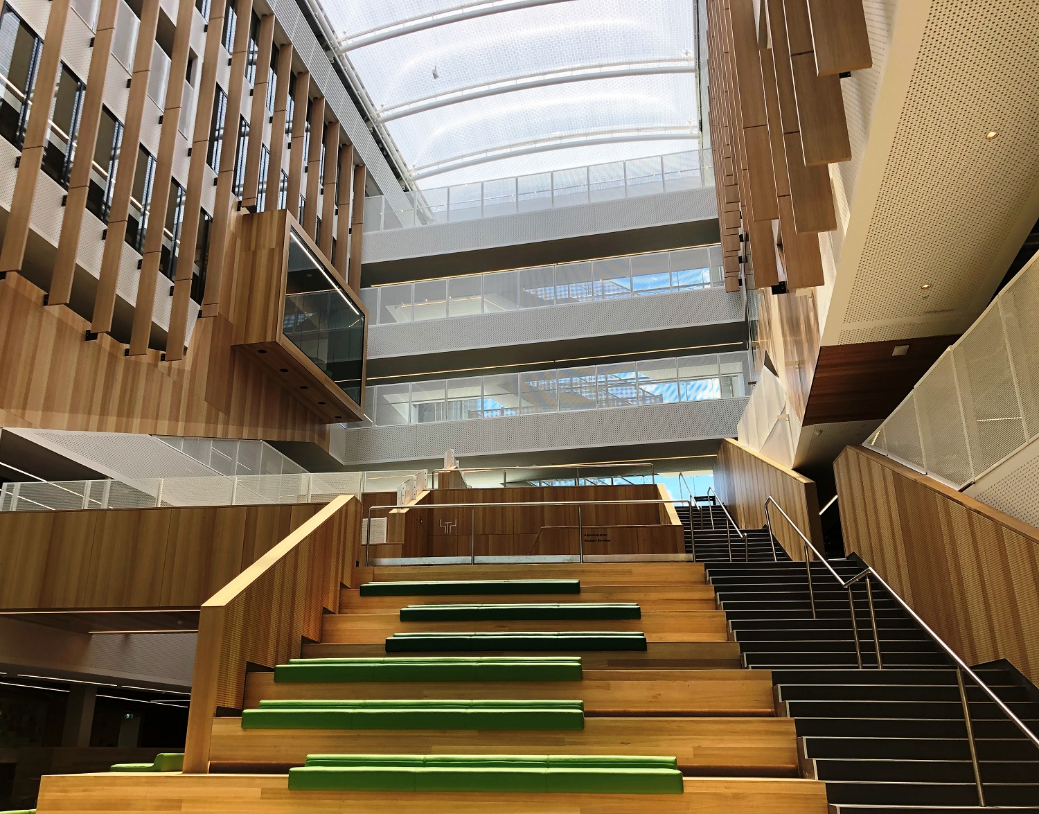 The entrance to the new Adelaide Botanic High Schoo