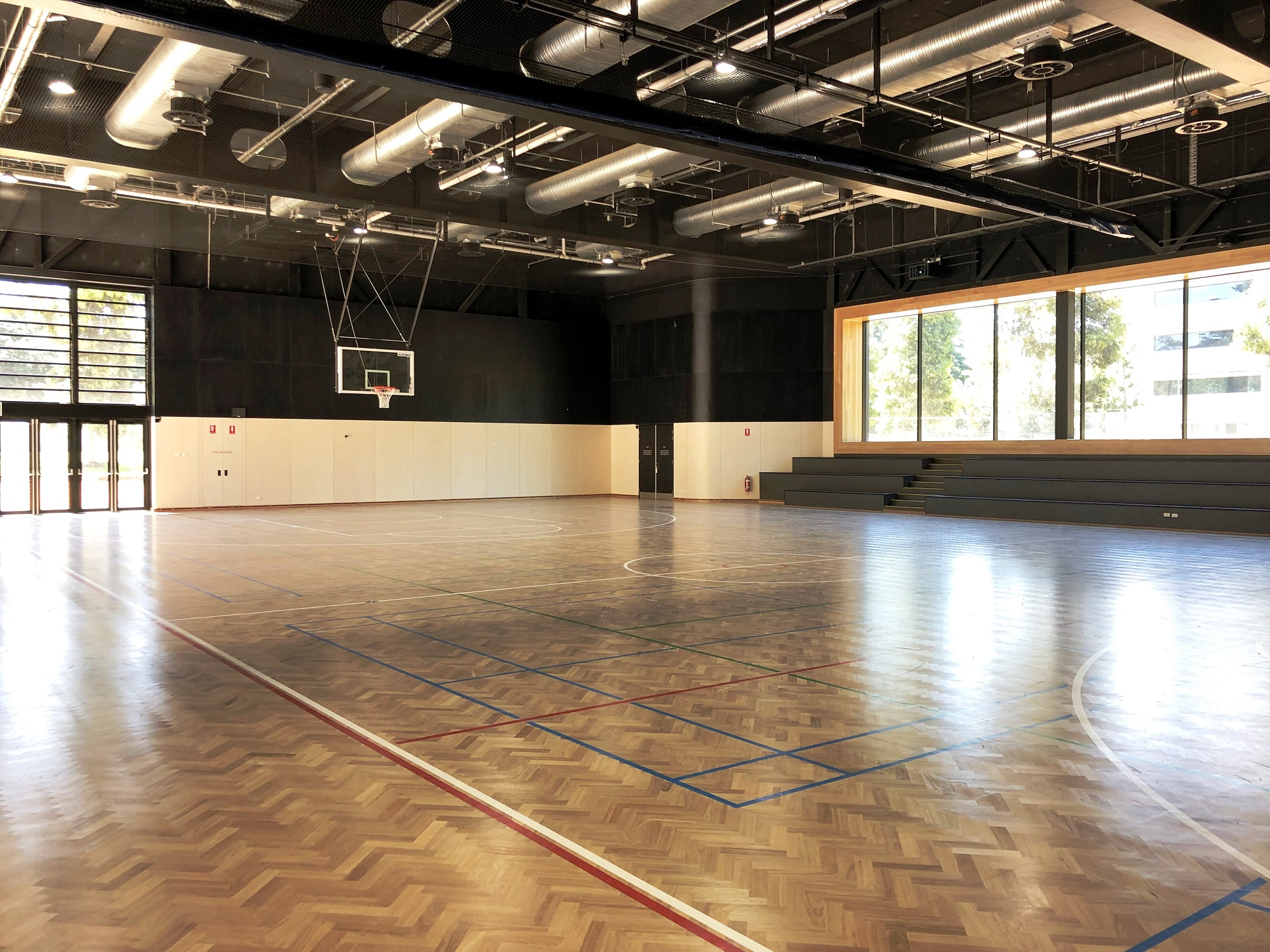 A basketball court at Adelaide Botanic High School