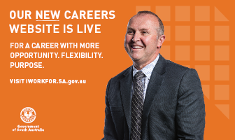I work for SA is the new careers website for South Australian government employees.