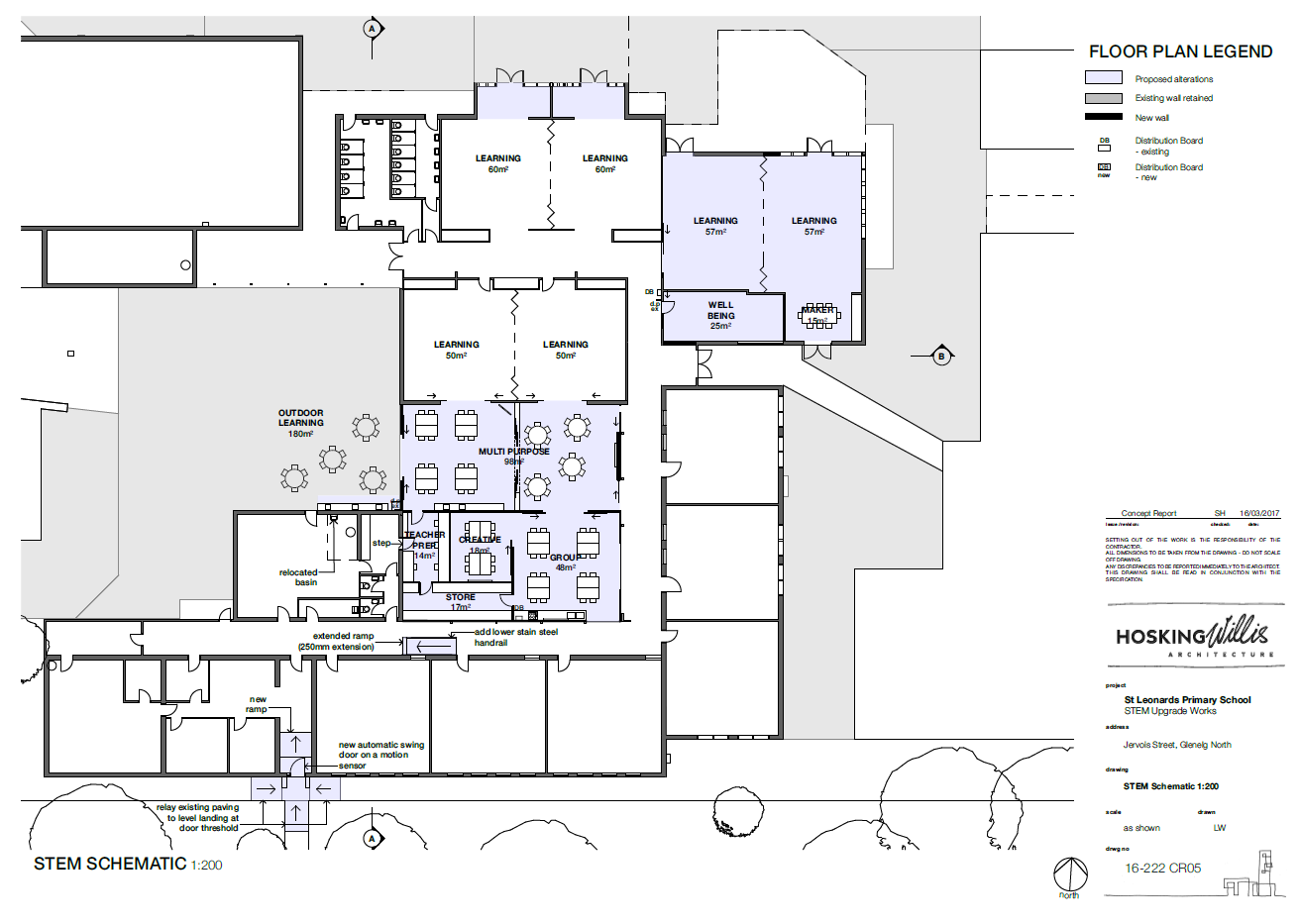 St Leonards primary school - floor plan