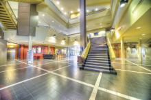 An image of the foyer at the Education Development Centre.